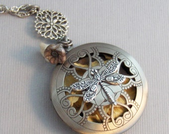 Dragonfly Garden,Scented,Locket,Silver,Apothecary,Choose Your Scent,Diffuser,Rose,Scent Locket,Scent Locket,Antique Locket,valleygirldesigns
