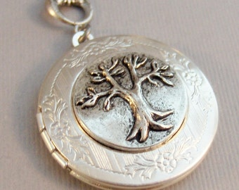 Simple Tree,Locket,Minimalist,Tree Locket,Tree Necklace,Family Tree,Thinking Tree,Antique Locket,Antique tree,Woodland,Woodland Tree,Valley