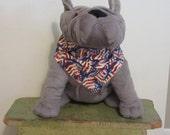 Small Patriotic Dog Bandana, Slide on Bandana, Dog Scarf, American Flag, Pet Accessory, Pet, Dog Collar Bandana, Dog Lover, Sm,Med,Lg Scarf