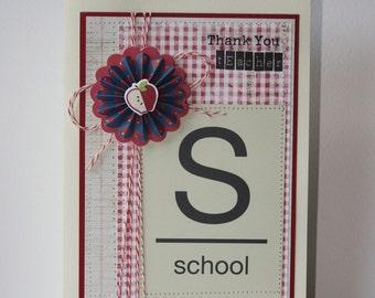 Thank You Teacher Handmade Card