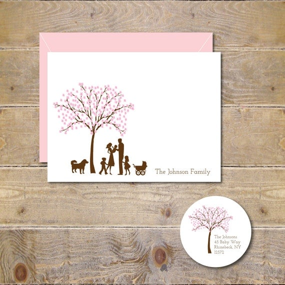 Cherry Blossom Baby Announcements, New Baby, Baby Thank You Cards, Baby Announcement, Baby Shower, Birth Announcements, Cherry Blossom Trees