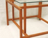 Danish Modern , Side Table , Glass Top , Teak , Henning Norgaard , Komfort , Made in Denmark , European , Mid-Century Modern , Wooden