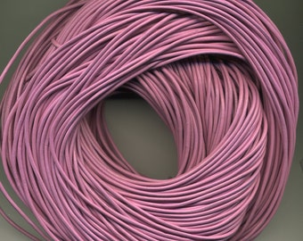 Leather Cord Pink 100 meter hank  2mm (Breast Cancer Pink )