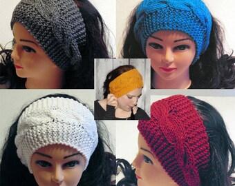 Knit Headband, Womans Headband, Custom Color Headband, Handmade Headband, Womans Accessories, Custom Ear Warmer