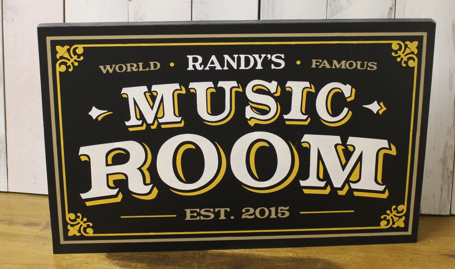 Custom Man Cave Signs Canada : Personalized music room sign man cave christmas gift you