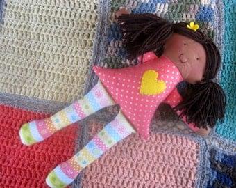 Ethnic Rag Doll/rag dolls/soft toy/Cloth Doll/Fabric Doll