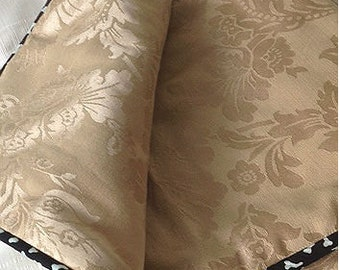 Dog Blanket Elegant Ecru Brocade - Medium Barking Dog Blanket