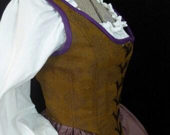 Celtic Knot Corset, Renaissance Faire Bodice, Size 10
