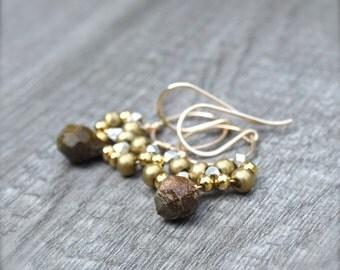 Boho Luxe Gemstone Chandelier Earrings