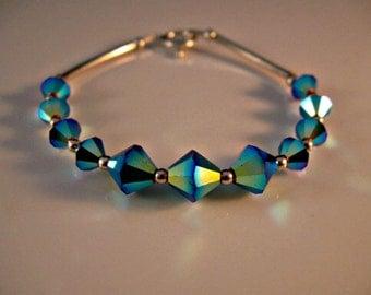 Beautiful Crystal Bracelet,silver bracelet,swarovski crystal bracelet,swarovski crystal,crystal jewelry,silver jewelry,swarovski crystal