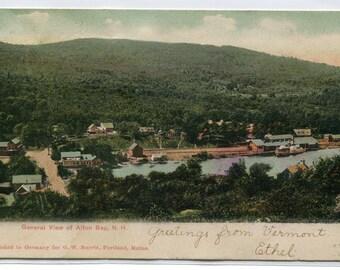 Panorama Alton Bay New Hampshire 1906 postcard