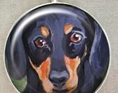 Dachshund  Keychain ~ Gifts for Him ~ Teckel Keychain  ~  June Birthday  ~ Doxie Keychain ~ Dad Gift ~ Doxie Portrait