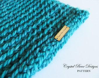Crochet Neck Warmer PATTERN / Chunky Cowl / Reversible Scarf / PDF Pattern /  One Skein / Beginner Easy Neckwarmer