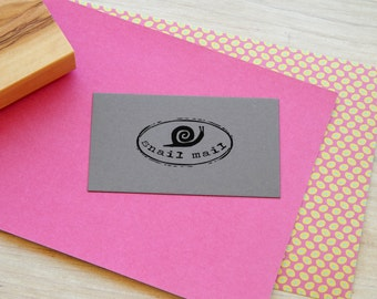 Small Snail Mail Olive Wood Stamp