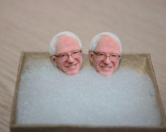 Bernie Sanders Stud Earrings Political Jewelry President 2016 Election