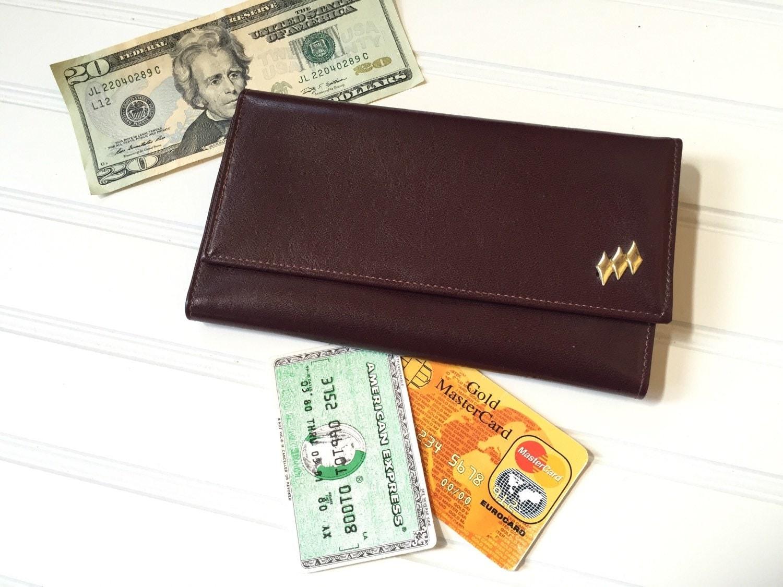 Ledger Card Holder : Vegan leather womens wallet checkbook cover card holder