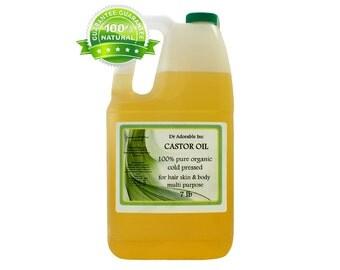 7 Lb Organic Castor Oil Cold Pressed Gallon 100% Pure HEXANE FREE