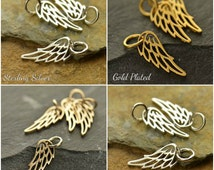 Tiny Angel Wing Charm - C971, Choose Your Favorite Style Wing