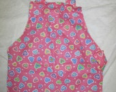 Toddler Apron, reversible Montessori style pink apron for preschoolers