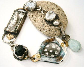 Moldavite Luna Druzy Amethyst Stalactite Slice Car Part Guinnea Feather Enameled Specimen Bracelet