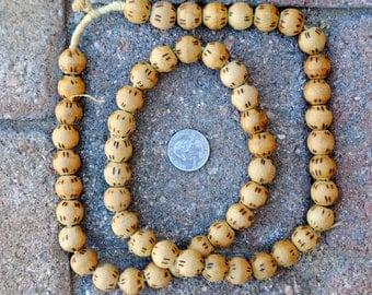 Round Wood Beads: 14mm
