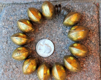 African Large Coin Beads Brass