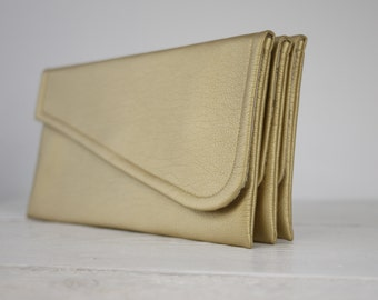 Simple gold clutch   simple gold bridesmaid clutch   simple gold wedding clutch