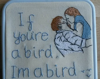 The Notebook Embroidered film canvas