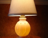 Pair of Aladdin Boudoir Lamps Alacite with Gold Band Downton Abby Style with 3 way Switch