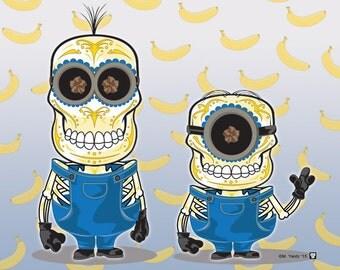 Minions Sugar Skull Print 11x14 print
