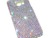For New Samsung Galaxy S7 Edge - Iridescent Crystal AB Rhinestone BLING Back Case handmade with 100% Crystals from Swarovski