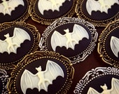 Pick 3-7 Bat Brooches Bridesmaid Cameo Wedding Gift / Halloween Gothic Pin / Bridal Party Jewelry Victorian Brooch / Favors Goth Nocturnal