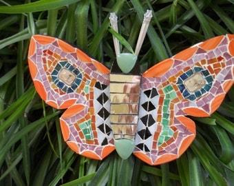 Handmade Mosaic Butterfly Wall Hanging