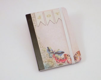 Mini Notebook Joy in Nature Design Up-cycled Decorated Mini Composition Notebook