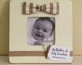 Personalized Custom Godparent Frame, Godmother Godfather Gift, Baptism Frame, Christening Gift, Baby Frame, Birth Announcement, Newborn Gift