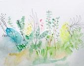 Green Thumb- Fresh Terrarium- 11x15