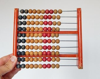 vintage abacus wooden counting decoration