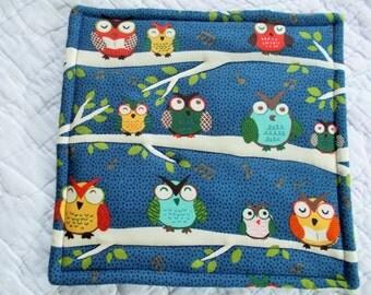 Owls Hot Pad/mini quilt/pot holder