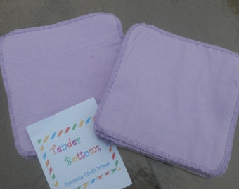 30 Ct 2 Ply Tender Bottoms Baby Wipes 8x8 inches, family cloth, napkins