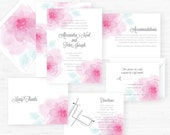 The Chelsea Collection | Hand-Painted Watercolor Wedding Invitations - Set of 25