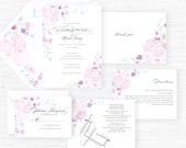 The Olivia Collection | Hand-Painted Watercolor Wedding Invitations - Set of 25