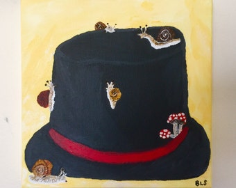 Snails on the top hat
