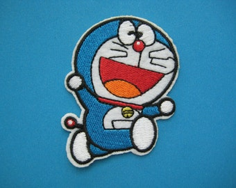 Iron-on Embroidered Patch Future Cat Doraemon 2.75 inch