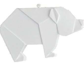 Origami, Polar Bear, Polyresin, White, Hard to Find