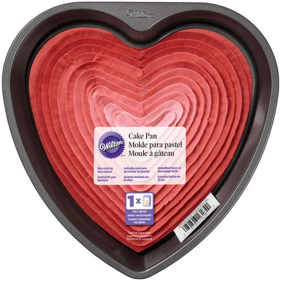 heart cake pan 9 inch x 2 inch cake pan one cake mix cake pan wilton 4764