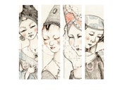 Medieval and Middle Ages Ladies Bookmark Set Printable and DIY