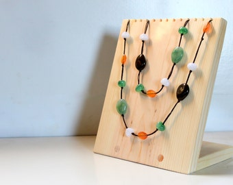 8 x 9 Necklace Display Board, Necklace Bust, Jewelry Display Stand, Craft Show, Retail Jewelry Display Rack, Jewelry Holder, Custom Colors