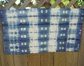 Indigo SHIBORI quilt cotton hand dyed art fabric sewing supples home decor from MyGypsyCottage on Etsy