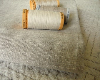 Natural OATMEAL Linen heavy rustic fabric eco friendly sewing supplies crafts home decor from Mygypsycottage on Etsy