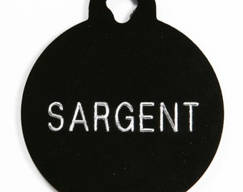 Pet Tag Personalized on Two-Sided Large Circle in 10 Colors